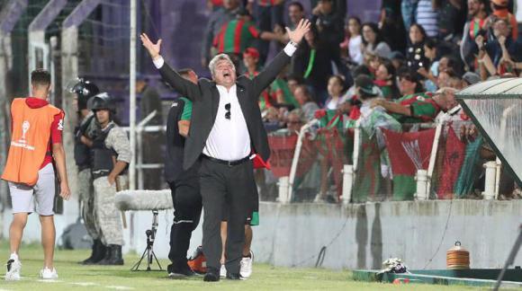 Rampla goleó y pasó de fase en la Sudamericana. Fotos: EFE