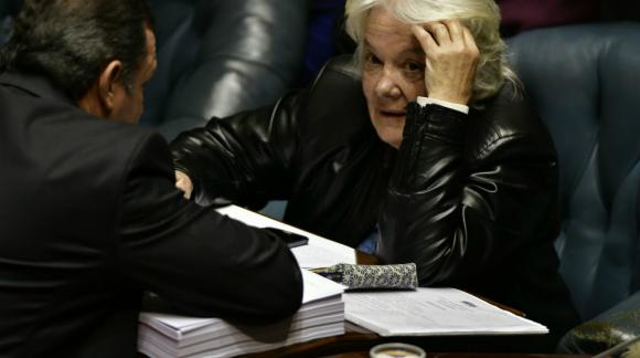 Topolansky en la sesión del Senado, previa a la Asamblea General. Foto: Fernando Ponzetto.