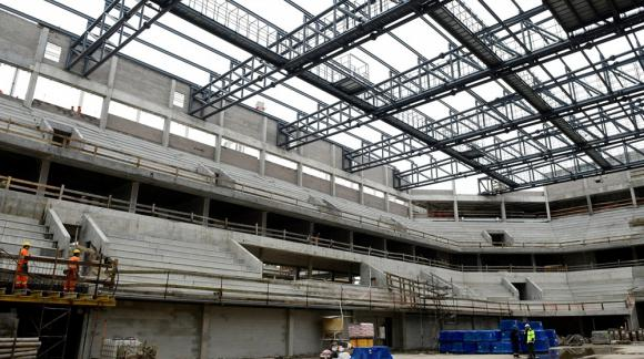 Así luce el Antel Arena por dentro. Foto: Marcelo Bonjour