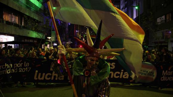 Algunos decidieron disfrazarse para animar el evento. Foto: Mateo Vázquez