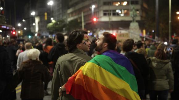 La marcha tenía como objetivo luchar por los derechos de todos los colectivos sociales. Foto: Mateo Vázquez