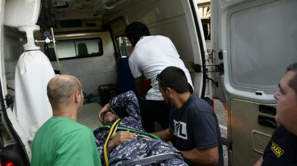 Violentos incidentes entre Policía y manifestantes en Rivera. Foto: Fernando Ponzetto