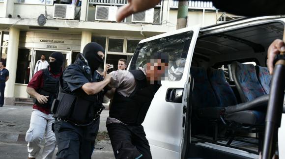 Incidentes entre Policía y manifestantes en Rivera. Foto: Fernando Ponzetto
