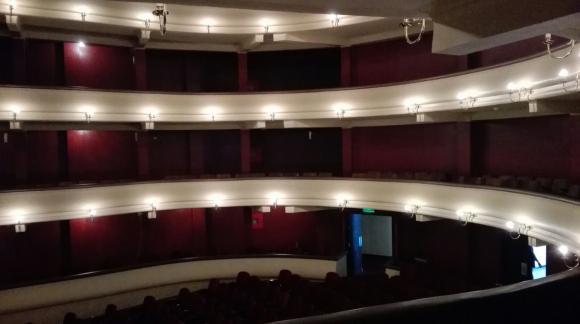 El Teatro Unión de Sociedad de San Carlos donde se realiza el sorteo del fixture. Foto: @CampeonatoAUF