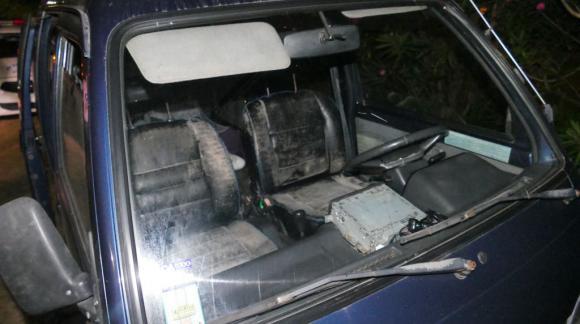 Así encontraron la camioneta que usaron los delincuentes para escapar. Foto: Ricardo Figueredo