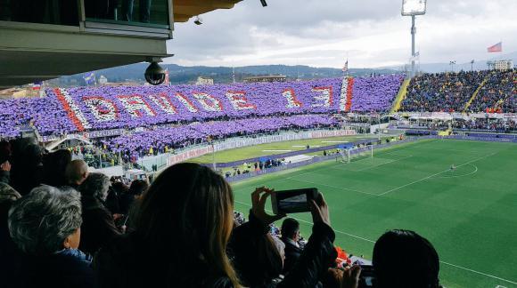 El último adiós a Davide Astori en Firenze. Foto: EFE.