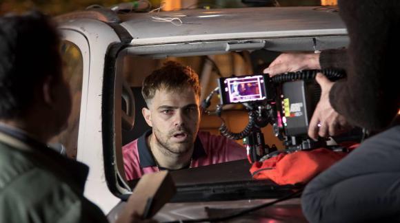"""Peter Lanzani la filmación de """"4x4"""""""