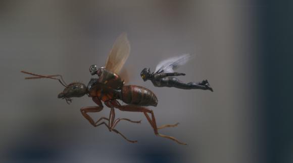 Y este superhéroe también viajará en una hormiga voladora, como en los comics. Foto: Difusión