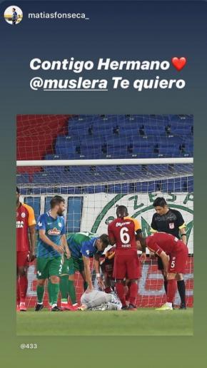 El mensaje de Matías Fonseca a Fernando Muslera.