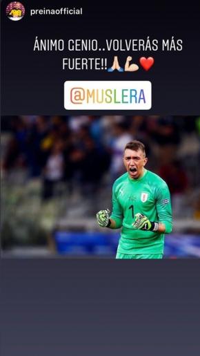 El mensaje de Pepe Reina a Fernando Muslera.