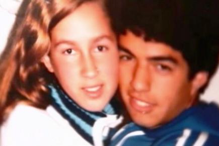 Luis Suárez y Sofía Balbi, cuando apenas eran adolescentes. Foto: Archivo El País.