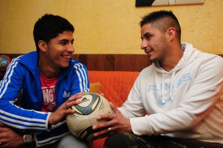 Diego y Maximiliano, hermanos de Suárez. Foto: Marcelo Bonjour
