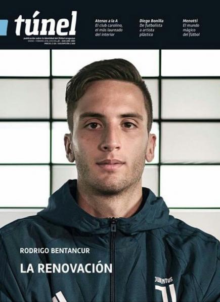 La tapa de la revista Túnel con Rodrigo Bentancur en su edición de enero y febrero de 2018