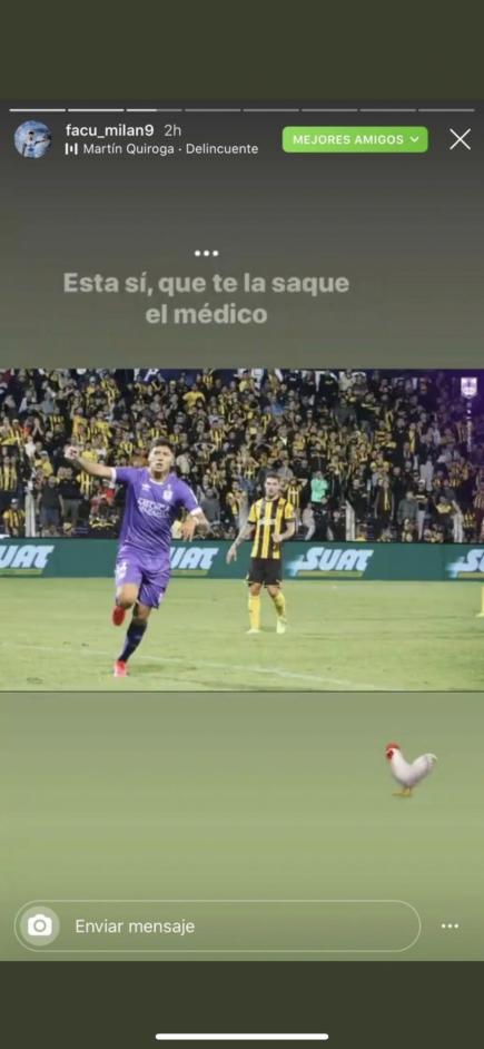 La imagen publicada por Facundo Milán en su Instagram.