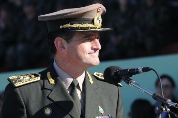 Comandante en jefe del Ejército Guido Manini Ríos en el Día del Ejército. Foto: Francisco Flores