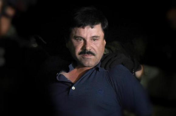 """Tercera vez que detienen a """"El Chapo"""" Guzmán. Foto: AFP"""