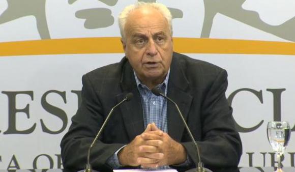 Víctor Rossi en conferencia de prensa luego del Consejo de Ministros. Foto: captura Presidencia
