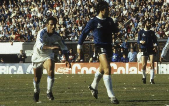 Antonio Alzamendi gritando el gol ante Argentina en la Copa América 1987. Foto: archivo El País.