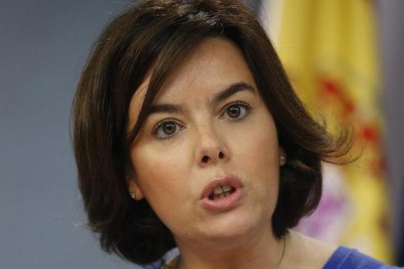 Soraya Sáenz de Santamaría, vicepresidente en funciones de España. Foto: EFE.