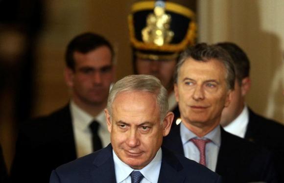 Netanyahu y Macri reunidos ayer en Buenos Aires. Foto: Reuters