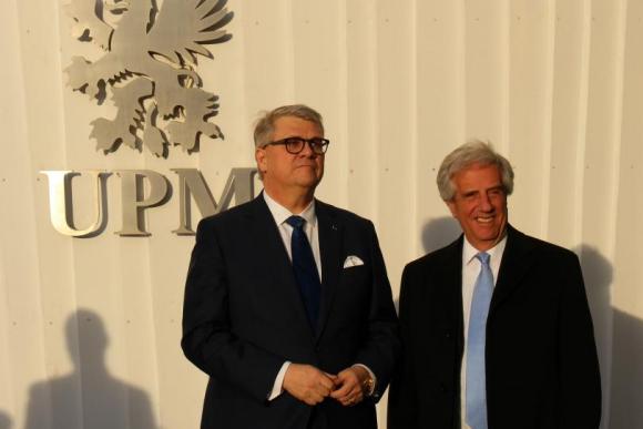 Vázquez viajó en febrero a Finlandia para reunirse con CEO de la empresa. Foto: P. Fernández