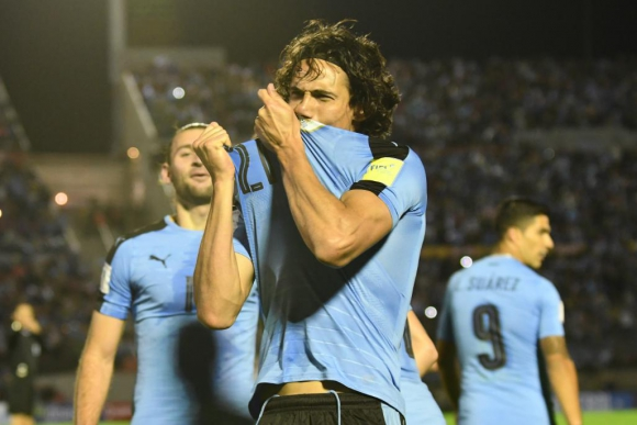 El grito de gol de Edinson Cavani. Foto: Gerardo Pérez