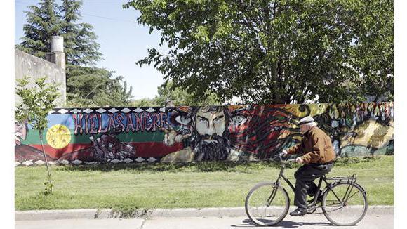 La cara del artesano aparece en diferentes partes del país. Foto: La Nación GDA