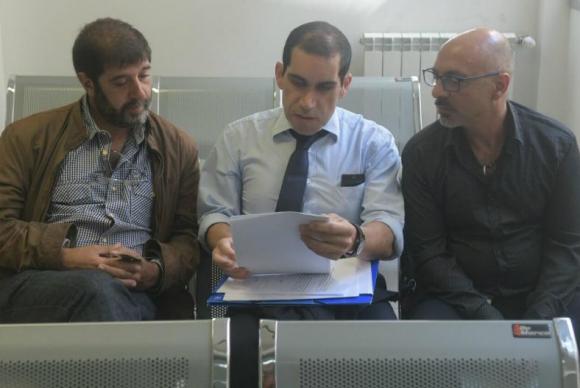 Fernando Pereira y Marcelo Abdala en el juzgado de Juan Carlos Gómez. Foto: Francisco Flores.