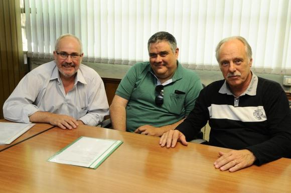 Gustavo Modernell, Joaquín Oyoaga y Eduardo Spangenberg. Foto: Darwin Borrelli.