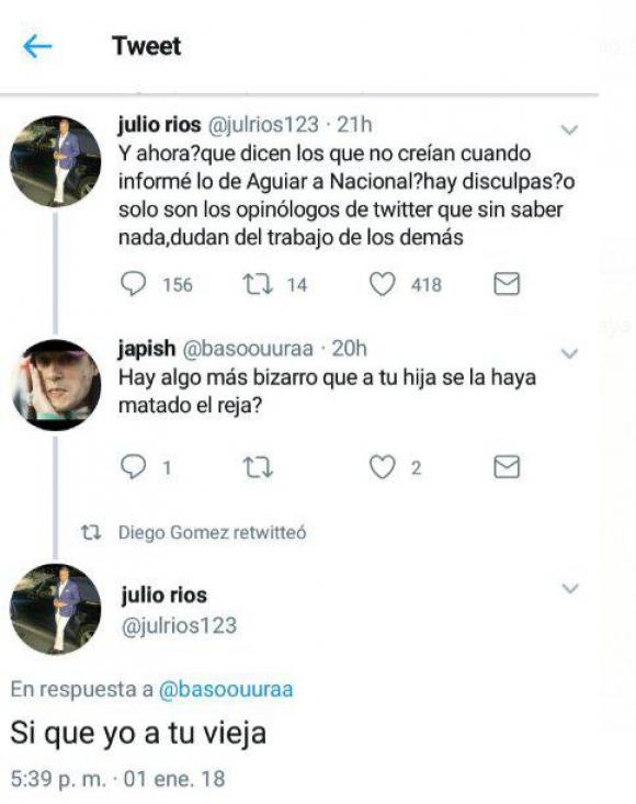 Tuits de Julio Ríos