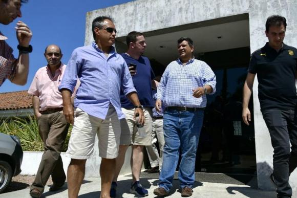 Jorge Barrera y sus compañeros en Los Aromos