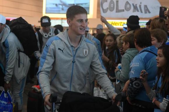 Facundo Waller volviendo del Mundial sub 20 con Uruguay. Foto: Fernando Ponzetto