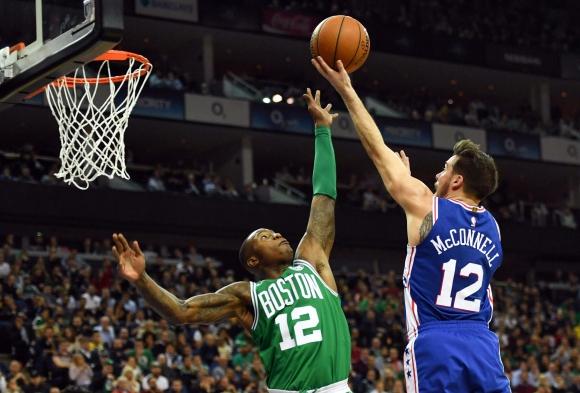 Boston Celtics derrotó a Philadelphia Sixers. Foto: AFP.
