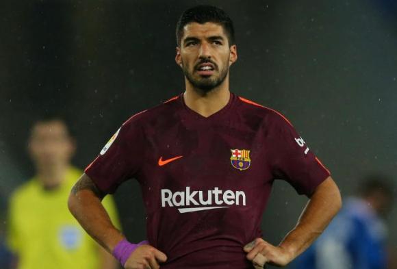Luis Suárez en el partido de Barcelona. Foto: Reuters