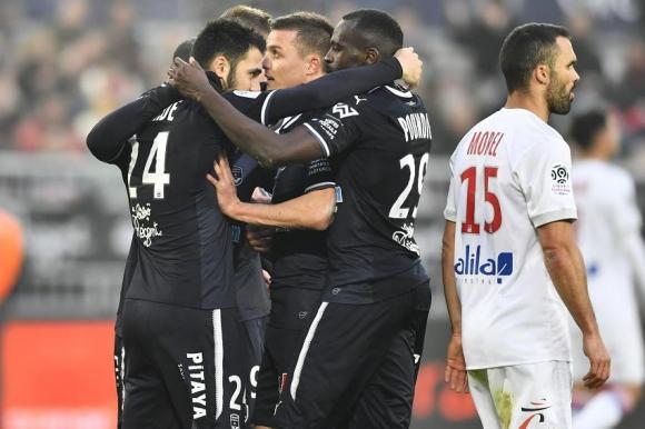 El festejo de Bordeaux ante Lyon. Foto: AFP