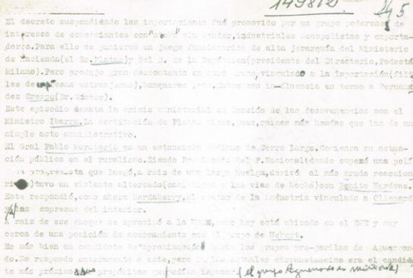 Captura de uno de los documentos estudiados por los peritos. Foto: UyPress
