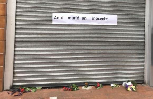 El local donde asesinaron a un joven trabajador durante una rapiña. Foto: @piliaguerrebere