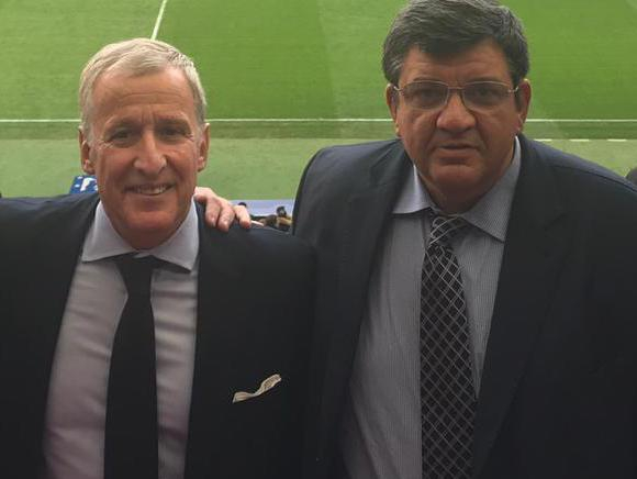 Pedro Bordaberry, Juan Pedro Damiani y Jorge Barrera en el Wanda Metropolitano