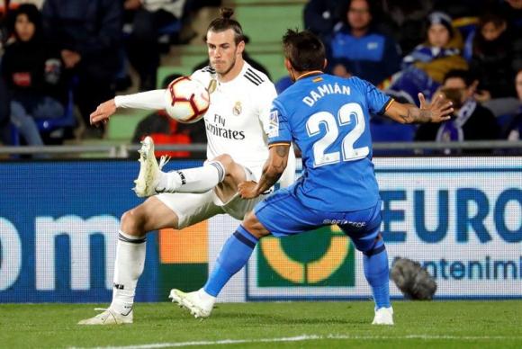 Damián Suárez ante Real Madrid. Foto: EFE
