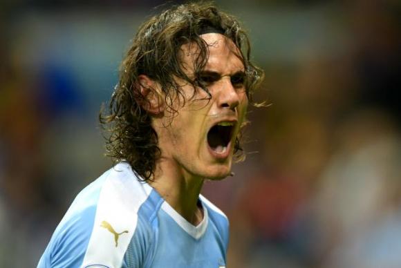 Edinson Cavani con Uruguay en la Copa América 2019