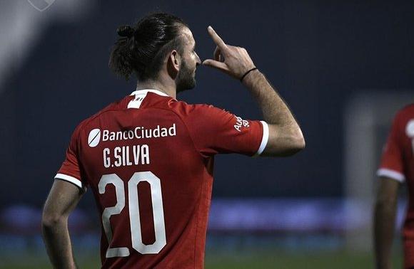 Gastón Silva y el festejo del gol para el triunfo de Independiente en Copa Argentina. Foto: @Independiente.