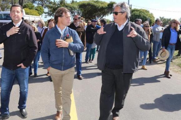 Luis Lacalle Pou y Enrique Antía. Foto: Enrique Antía