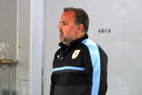 Diego D'Alessandro, entrenador de la selección uruguaya de futsal. Foto: Matías Pérez / El País