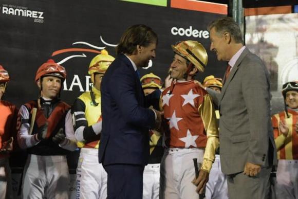 Luis Lacalle Pou con Pablo Falero en el Ramírez 2020