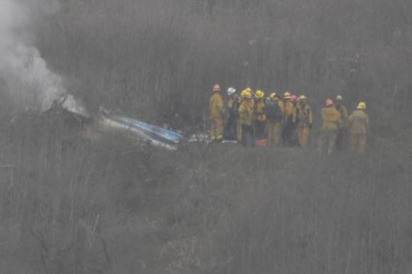 La imagen del helicóptero luego del accidente. Foto: Reuters.