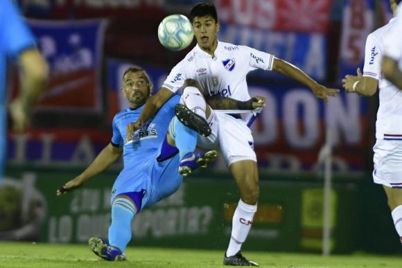 Enzo Borges y Mathías Laborda en el Cerro Largo vs. Nacional
