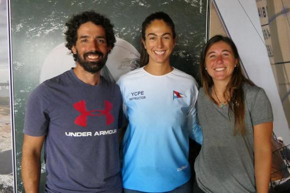 Pablo Defazio, Mariana Foglia y Dominique Knüppel en el Nacra 17 de Vela para los Juegos Olímpicos de Tokio 2020.