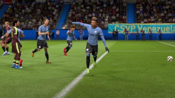 El festejo de gol tras un tanto de la selección formativa. Foto: @diegotuala10.