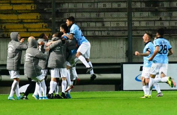 La celebración de los jugadores de Wanderers. FOTO: F. Flores.