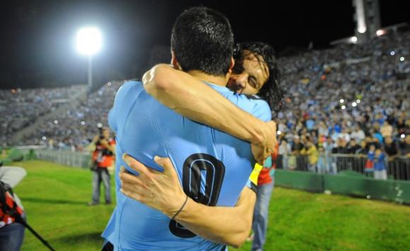 Insaciables. La Celeste tendrá a sus dos grandes estrellas presentes en el ataque: Suárez y Cavani.